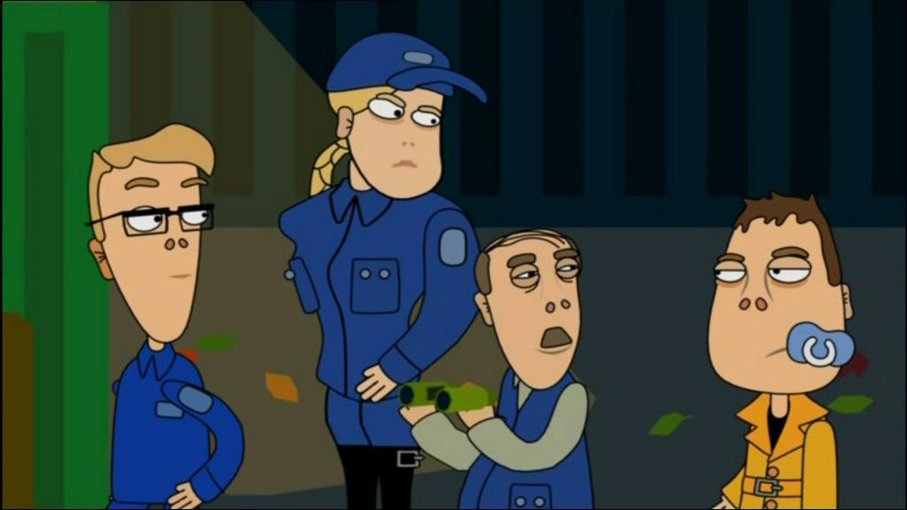 Animaatiosarja Pasilan 1. tuotantokauden jakso, kuva Wikipediasta