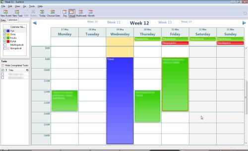 Sunbird -kalenteri