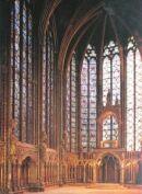 Pariisin goottilaisen Sainte Chapellen sisätila 1200-luvulta